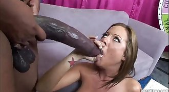 Huge Black Cock Interracial Anal Fuck for Hot Honey