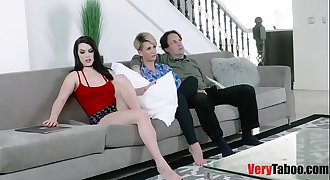 Raven Reign fucks daddy infront of mom!
