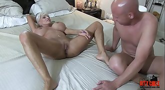 Mean BITCH HOTWIFE fucks Big black cock in front of her injured CUCK husband Sally D'angelo